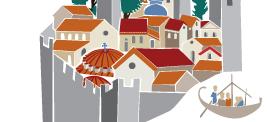 κομμάτι εικόνας του Λογότυπου της σελίδας που παρουσιάζει μια χαρακτηριστική Βυζαντινή πολιτεία με τρόπο εικονογραφικό